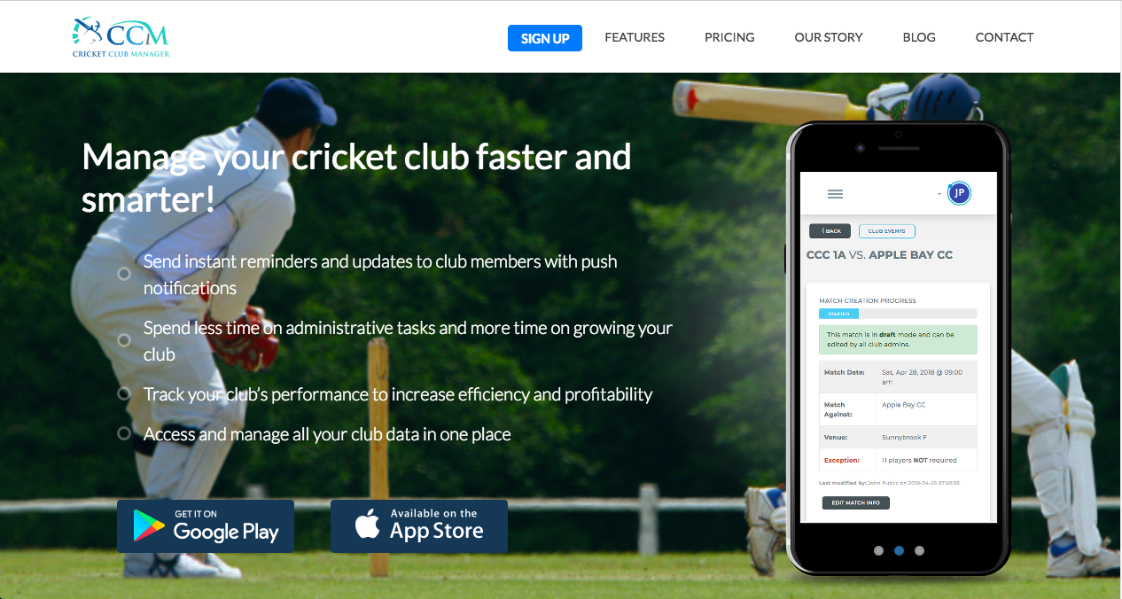Cricket Club Manager